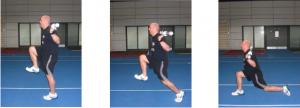 Járás térdlendítéssel és kitöréssel